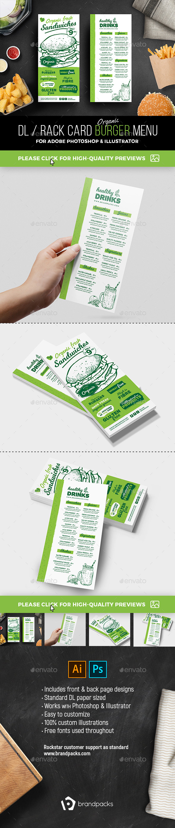 GraphicRiver DL Rack Card Burger Menu 21080493