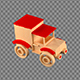 Children's Toy In The Form Of A Wooden Car - VideoHive Item for Sale