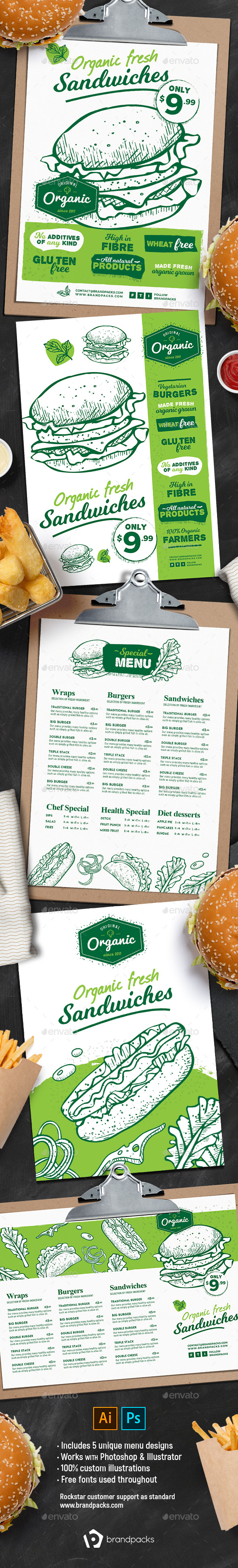 GraphicRiver Burger Menu Templates 21077929