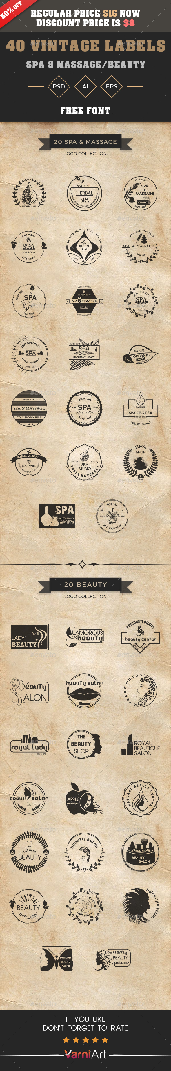 GraphicRiver Vintage Labels Bundle 21091574