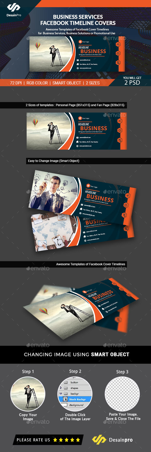 GraphicRiver Business Facebook Cover Timeline AR 21091655