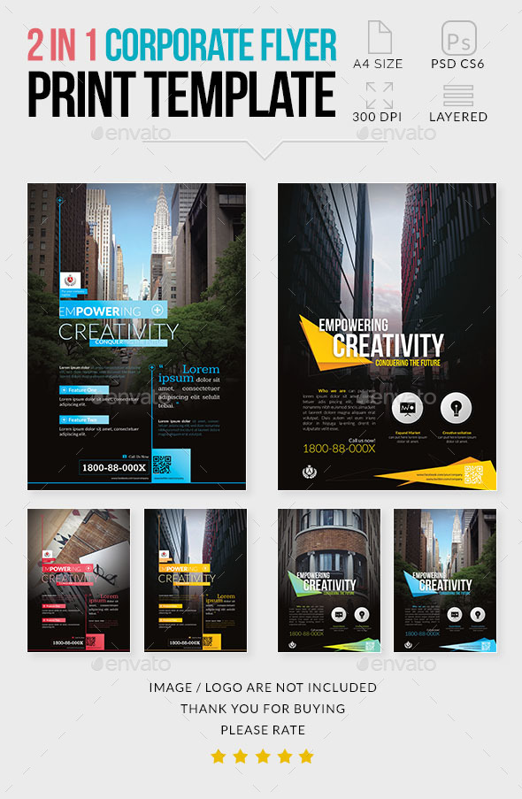 Multipurpose Corporate Flyer 2 in 1 - Corporate Flyers