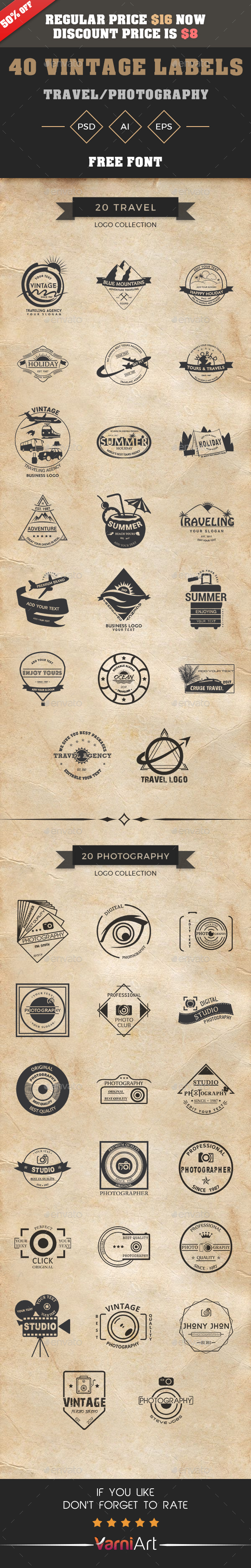 GraphicRiver Vintage Logo Bundle 21091715