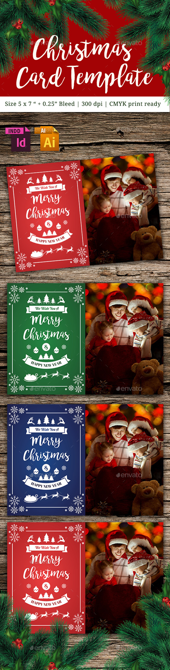Christmas Card Vol. 6 - Cards & Invites Print Templates