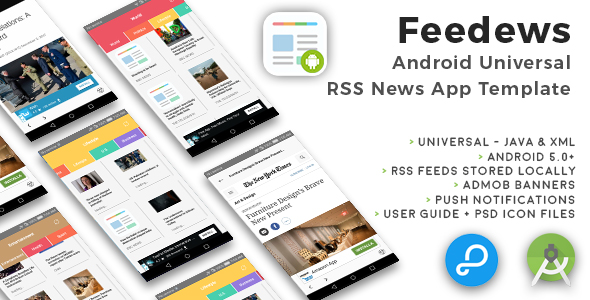 Feedews | Android Universal RSS News App Template - CodeCanyon Item for Sale