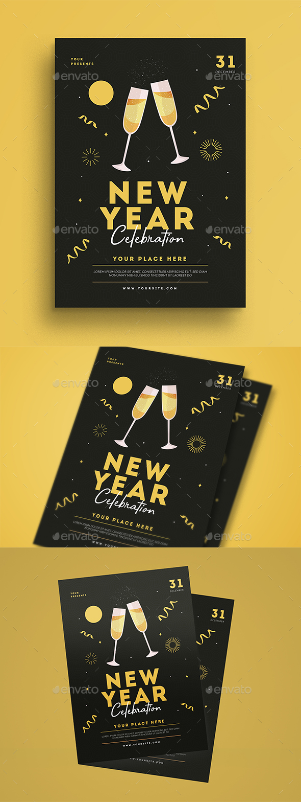 New Year Event Celebration - Events Flyers