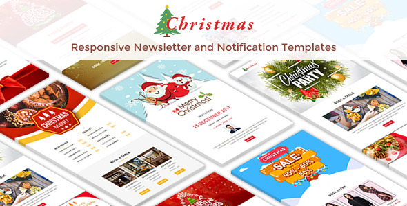Christmas - 10 Responsive Newsletter and Notification Templates - Newsletters Email Templates