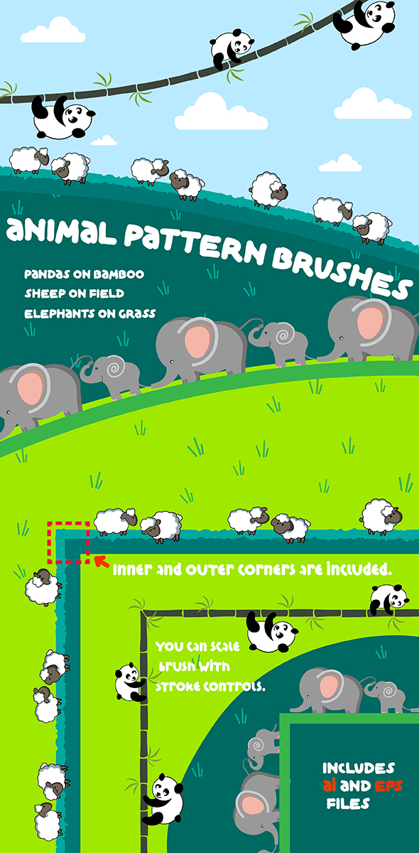 GraphicRiver Animal Pattern Brushes 21091976