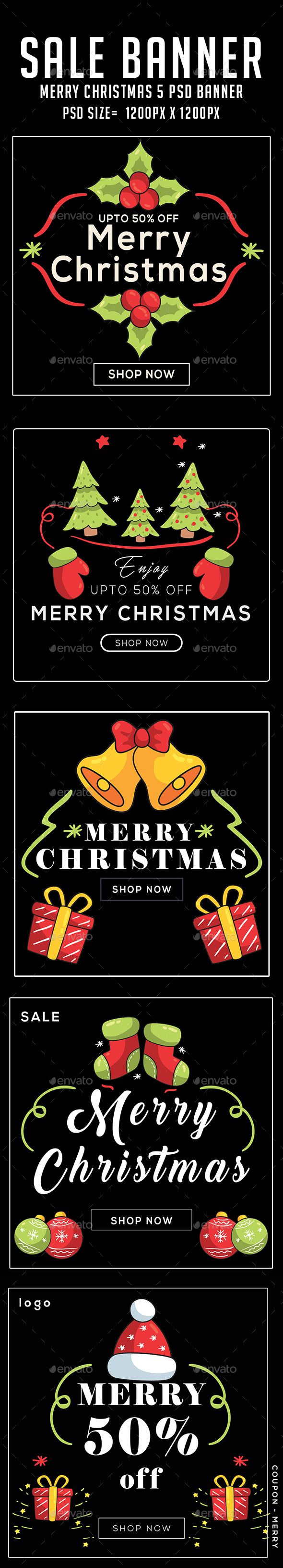 GraphicRiver Merry Christmas Banners 21091981
