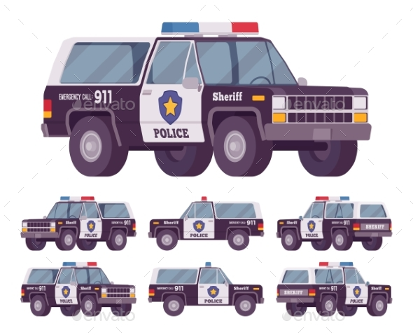Sheriff Off-road Car - Man-made Objects Objects