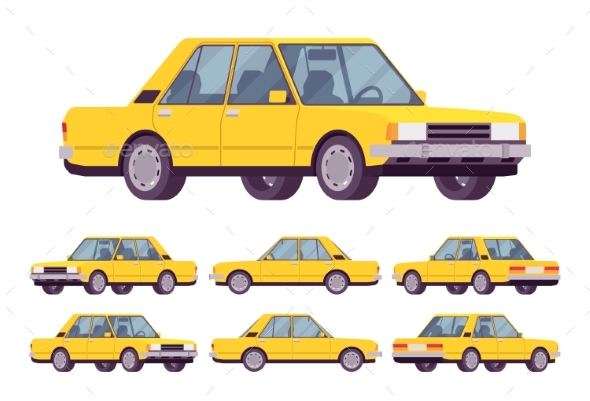 GraphicRiver Yellow Sedan Set 21092004