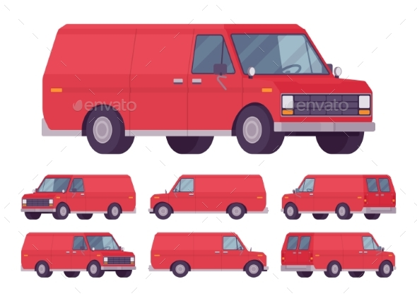 GraphicRiver Red Van Set 21092006