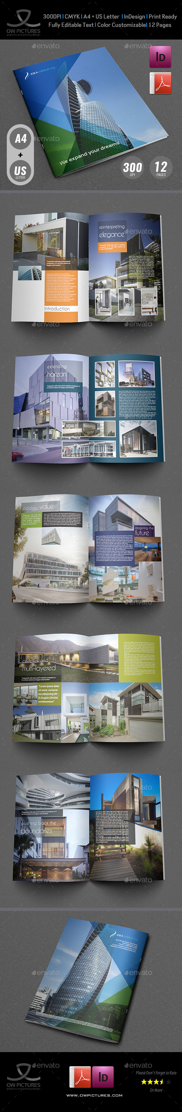 Architectural Brochure Template - 12 Pages - Brochures Print Templates