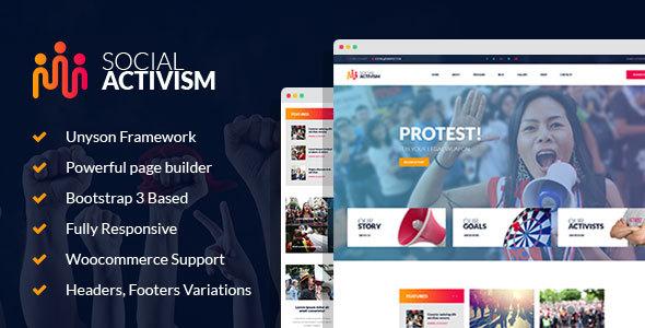 Social Activism - Non-Government Organization WordPress Theme