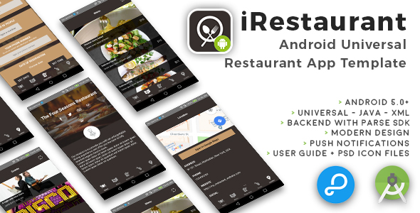 iRestaurant | Android Universal Restaurant App Template - CodeCanyon Item for Sale