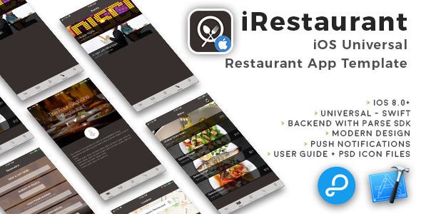 iRestaurant | iOS Universal Restaurant App Template (Swift) - CodeCanyon Item for Sale