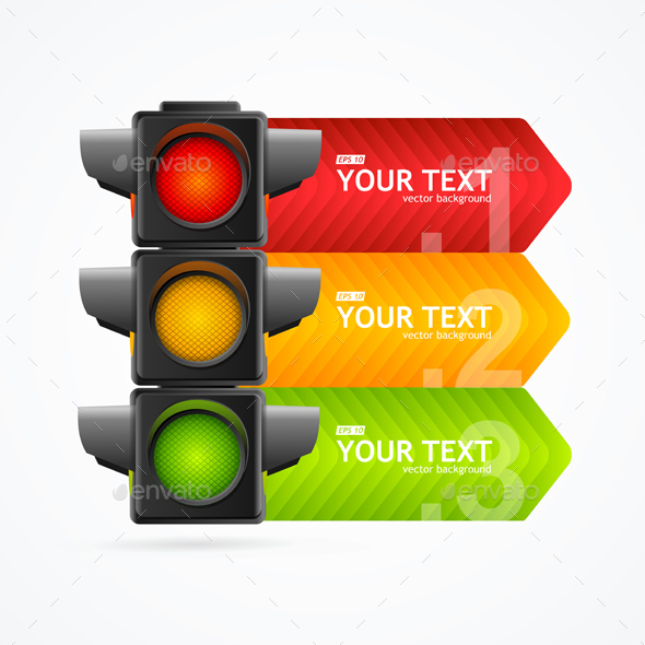 GraphicRiver Detailed Road Traffic Light Banner Card 21092246