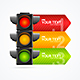 Detailed Road Traffic Light Banner Card - GraphicRiver Item for Sale