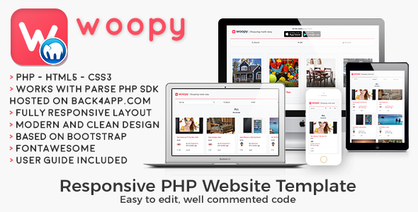 woopy | PHP Listings + Chat Web Template by cubycode | CodeCanyon