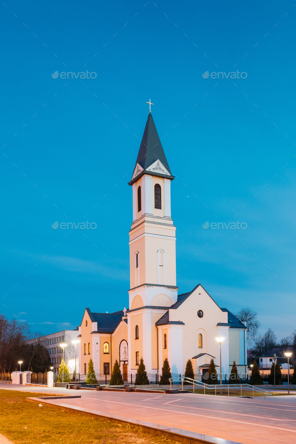 Gomel, Belarus. Church Of The Nativity Of The Virgin Mary On Sov - Stock Photo - Images