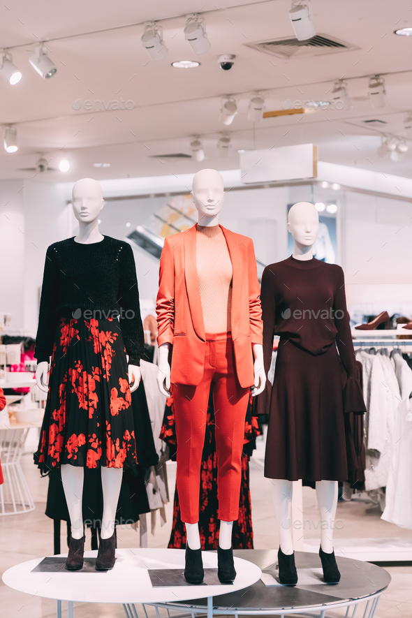 Mannequins Dressed In Female Woman Casual Clothes In Store Of Sh - Stock Photo - Images