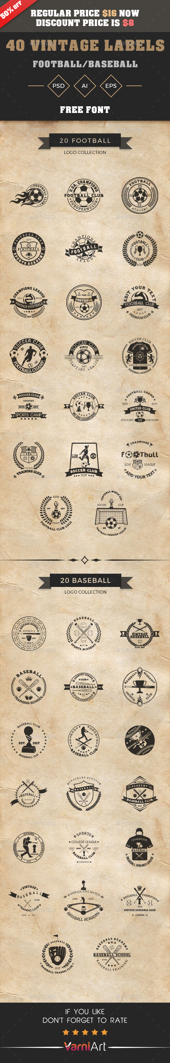 GraphicRiver Vintage Logo Bundle 21092401