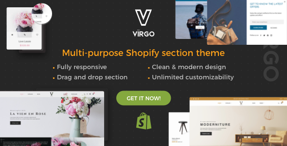 Image of Virgo - Responsive Shopify Furniture, Accessories, Bouquet, Multipurpose theme