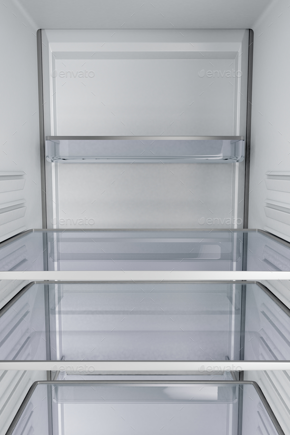Inside of an empty fridge - Stock Photo - Images