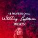 13 Premium Wedding Lightroom Presets