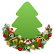 Vector Christmas Decoration with Paper Fir Tree