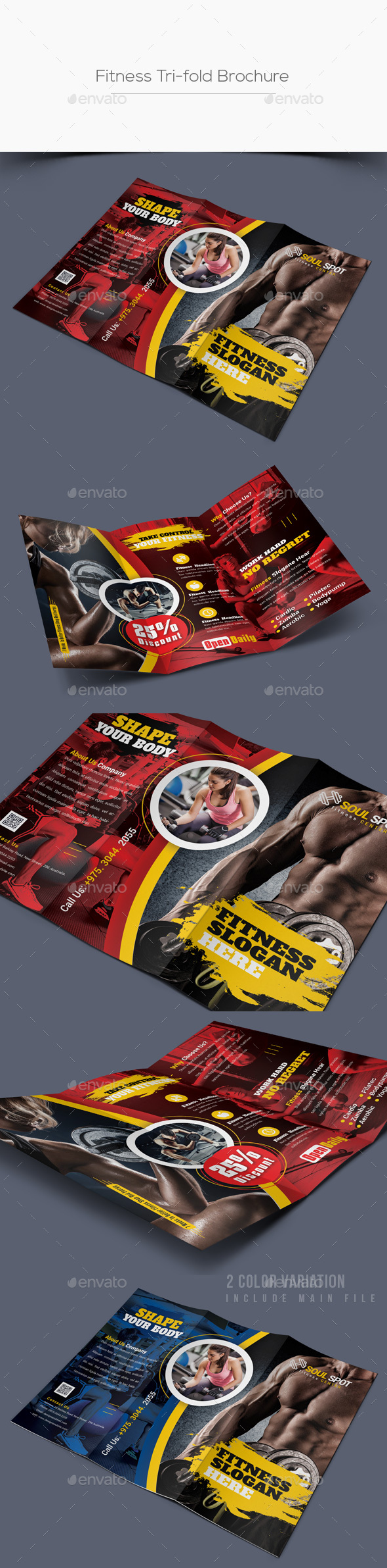 Fitness Tri-fold Brochure - Corporate Brochures
