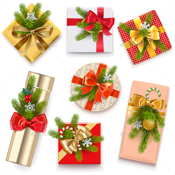 Vector Christmas Gift Boxes - Christmas Seasons/Holidays