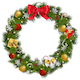Vector Christmas Wreath with Garland - GraphicRiver Item for Sale