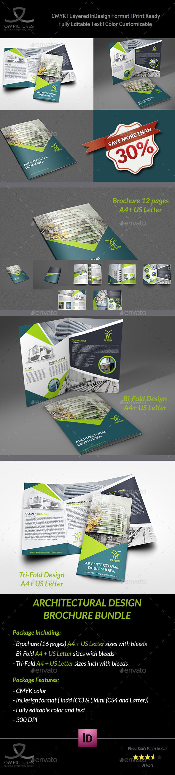 Architectural Design Brochure Bundle Template Brochures Print Templates