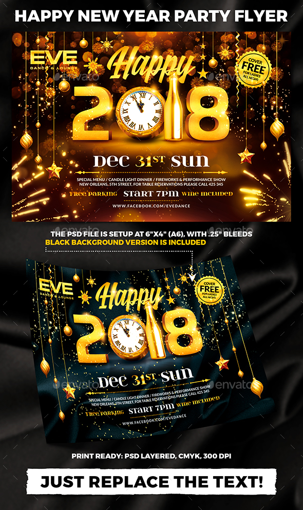 GraphicRiver Happy New Year Party Flyer vol.2 21082621