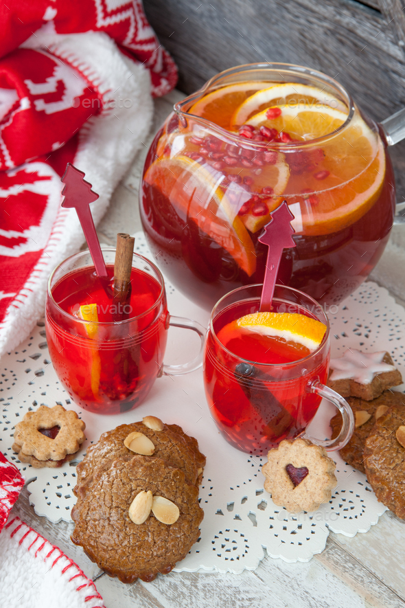 Hot fruit punch - Stock Photo - Images