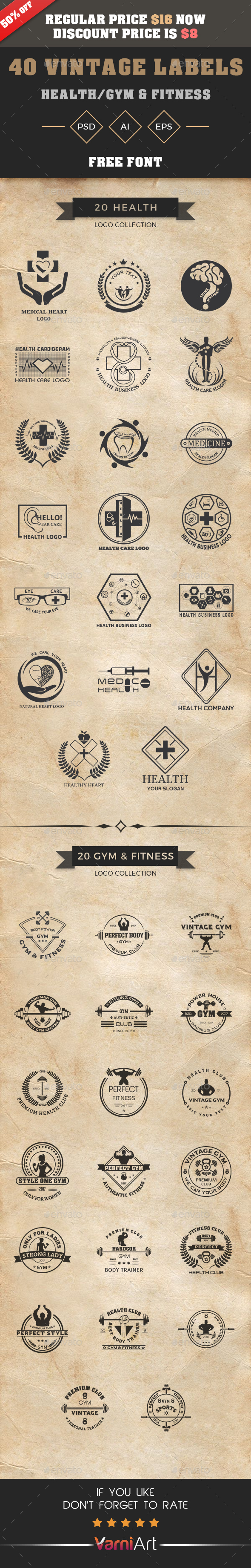 GraphicRiver Vintage Logo Bundle 21093200