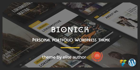 Bionick | Personal Portfolio WordPress Theme