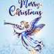 Christmas Angel Flies over Houses - GraphicRiver Item for Sale