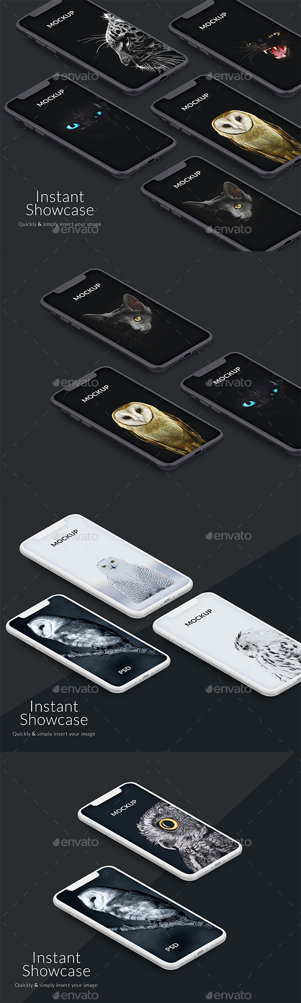 Perspective Iphone X Mockup - Product Mock-Ups Graphics