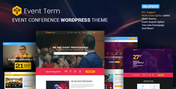Event Term- Conference & Event WordPress Theme for Single & Multiple Event - Events Entertainment