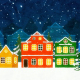 Cartoon Christmas Town Background - VideoHive Item for Sale