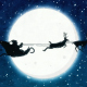 Cartoon Santa Claus Moon Silhouette - VideoHive Item for Sale
