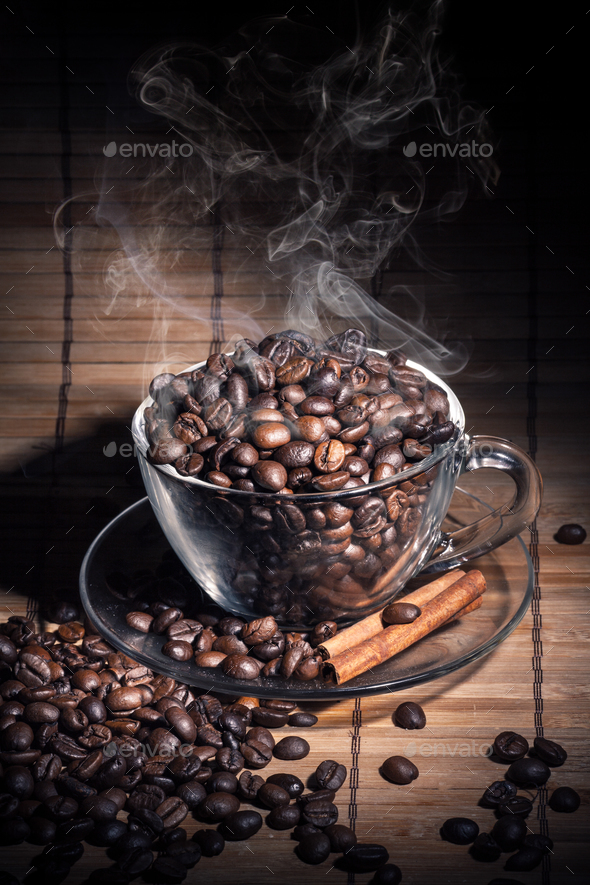 Steaming cup of coffee - Stock Photo - Images