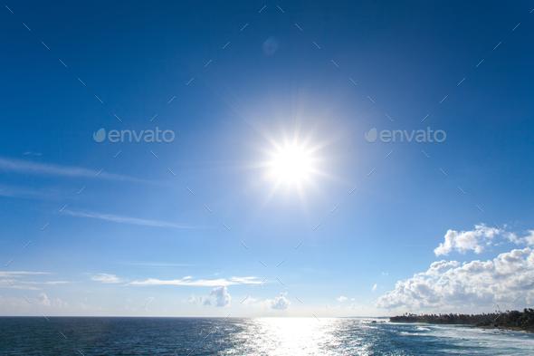 Beautiful sea horizon. - Stock Photo - Images