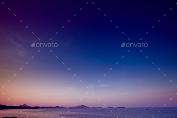 Tropical sunset - Stock Photo - Images