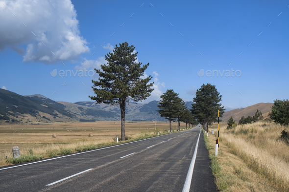 Mountain landscape in Abruzzi at summer - Stock Photo - Images