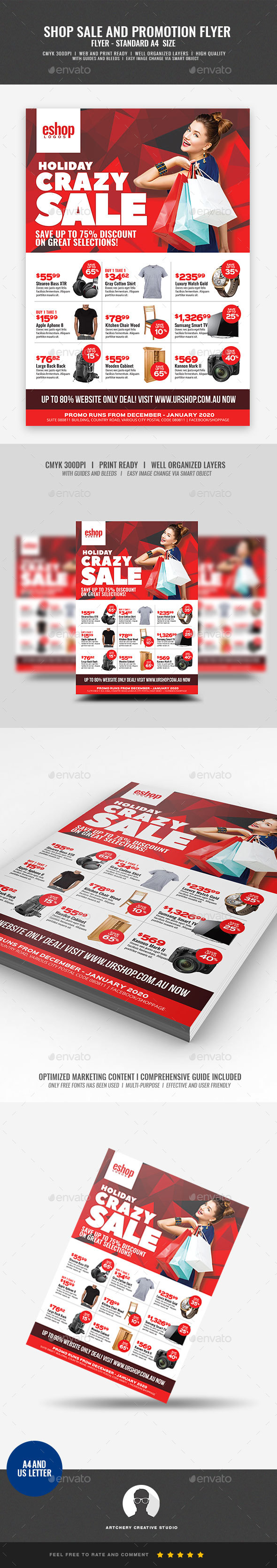 Product Sale and Promotional Sales Flyer - Corporate Flyers