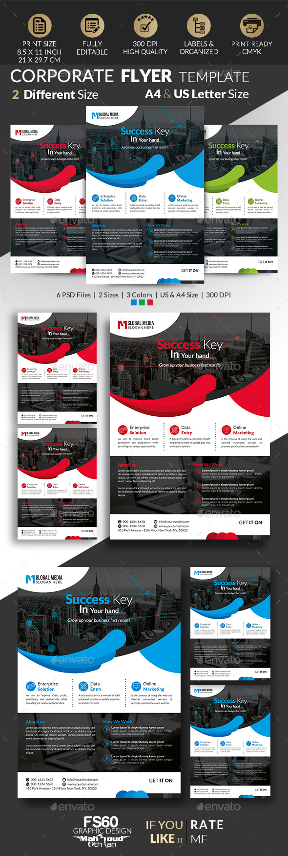 GraphicRiver Creative Corporate Flyer 21093542