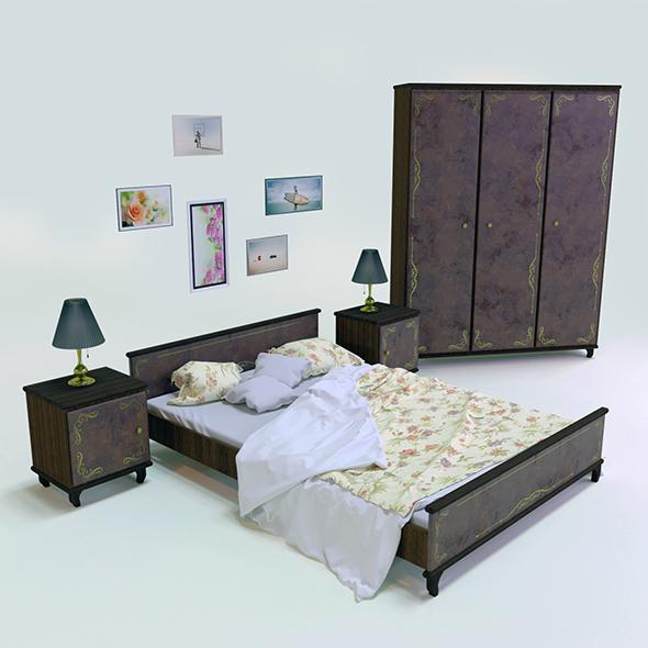 Bedroom set vol.1 - 3DOcean Item for Sale